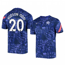 Chelsea 2020-21 Callum Hudson-Odoi Blue Pre-Match Authentic Jersey