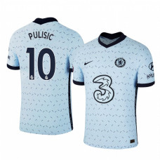 YOUTH - Chelsea 2020-2021 Christian Pulisic Pale Blue Away Authentic Jersey