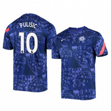 YOUTH - Chelsea 2020-21 Christian Pulisic Blue Pre-Match Authentic Jersey