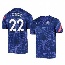 Chelsea 2020-21 Hakim Ziyech Blue Pre-Match Authentic Jersey