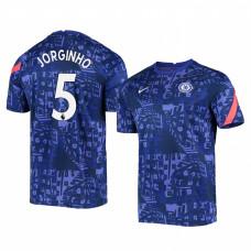 Chelsea 2020-21 Jorginho Blue Pre-Match Authentic Jersey