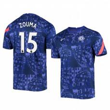 Chelsea 2020-21 Kurt Zouma Blue Pre-Match Authentic Jersey