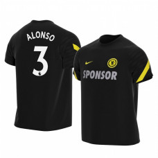 YOUTH - Chelsea 2021-22 Marcos Alonso Black Training Authentic Jersey