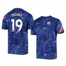 Chelsea 2020-21 Mason Mount Blue Pre-Match Authentic Jersey