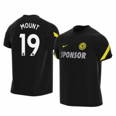 YOUTH - Chelsea 2021-22 Mason Mount Black Training Authentic Jersey