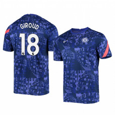 Chelsea 2020-21 Olivier Giroud Blue Pre-Match Authentic Jersey