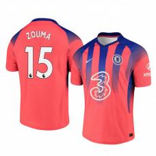 Chelsea 2020-21 Kurt Zouma Pinkish Third Authentic Jersey