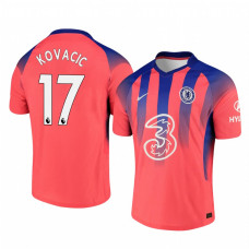 Chelsea 2020-21 Mateo Kovacic Pinkish Third Authentic Jersey