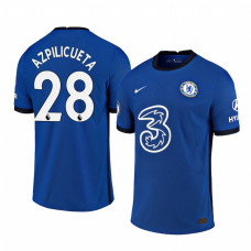 WOMEN - Chelsea 2020-21 Cesar Azpilicueta Home Shades Blue Authentic Jersey