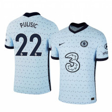 YOUTH - Chelsea 2020-21 Christian Pulisic Away Pale Blue Authentic Jersey