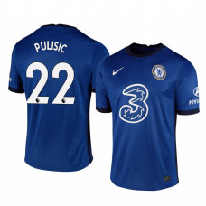 YOUTH - Chelsea 2020-21 Christian Pulisic Home Shades Blue Authentic Jersey