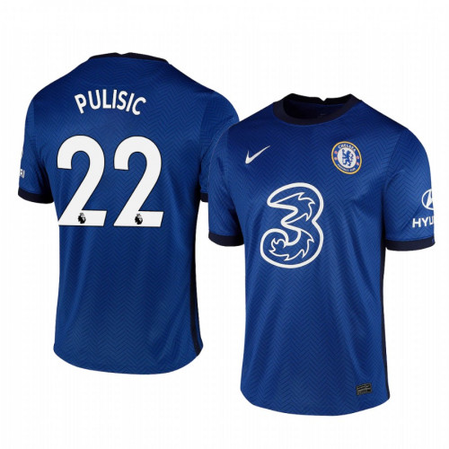 WOMEN - Chelsea 2020-21 Christian Pulisic Home Shades Blue Replica Jersey