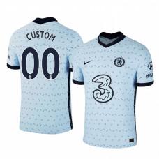Custom WOMEN - Chelsea 2020-21 Away Pale Blue Authentic Jersey