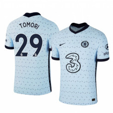 YOUTH - Chelsea 2020-21 Fikayo Tomori Away Pale Blue Authentic Jersey