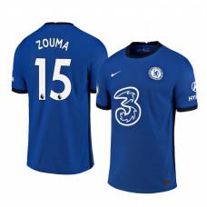 Chelsea 2020-21 Kurt Zouma Home Shades Blue Authentic Jersey