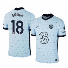 WOMEN - Chelsea 2020-21 Olivier Giroud Away Pale Blue Authentic Jersey