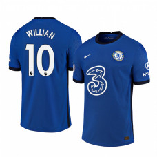 WOMEN - Chelsea 2020-21 Willian Home Shades Blue Authentic Jersey