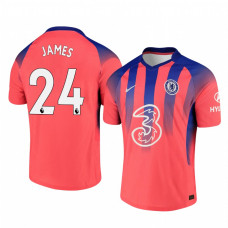 Chelsea 2020-21 Reece James Pinkish Third Authentic Jersey