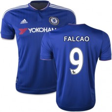 2015/16 Chelsea #9 Radamel Falcao Blue Home Replica Jersey