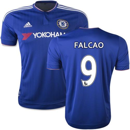 2015/16 Chelsea #9 Radamel Falcao Blue Home Replica Jersey