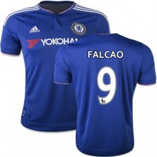 Youth 2015/16 Chelsea #9 Radamel Falcao Blue Home Replica Jersey