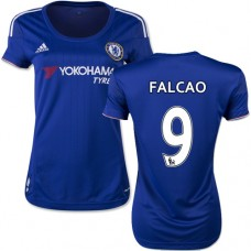 Women's 2015/16 Chelsea #9 Radamel Falcao Blue Home Authentic Jersey