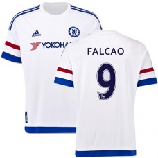 Youth 2015/16 Chelsea #9 Radamel Falcao White Away Authentic Jersey