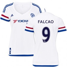 Women's 2015/16 Chelsea #9 Radamel Falcao White Away Replica Jersey