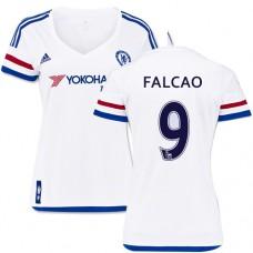 Women's 2015/16 Chelsea #9 Radamel Falcao White Away Replica Jersey