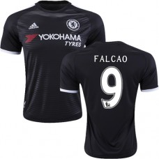 2015/16 Chelsea #9 Radamel Falcao Black Third Replica Jersey