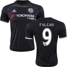 2015/16 Chelsea #9 Radamel Falcao Black Third Replica Jersey