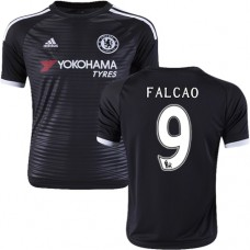 Youth 2015/16 Chelsea #9 Radamel Falcao Black Third Replica Jersey