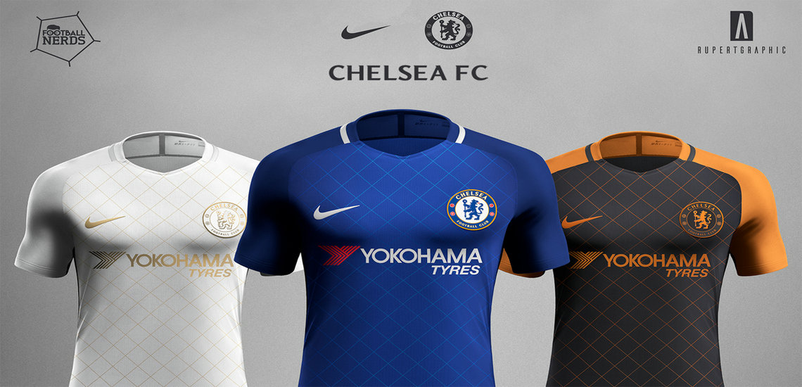 Chelsea 2017/18 Home, Away, Third Kits