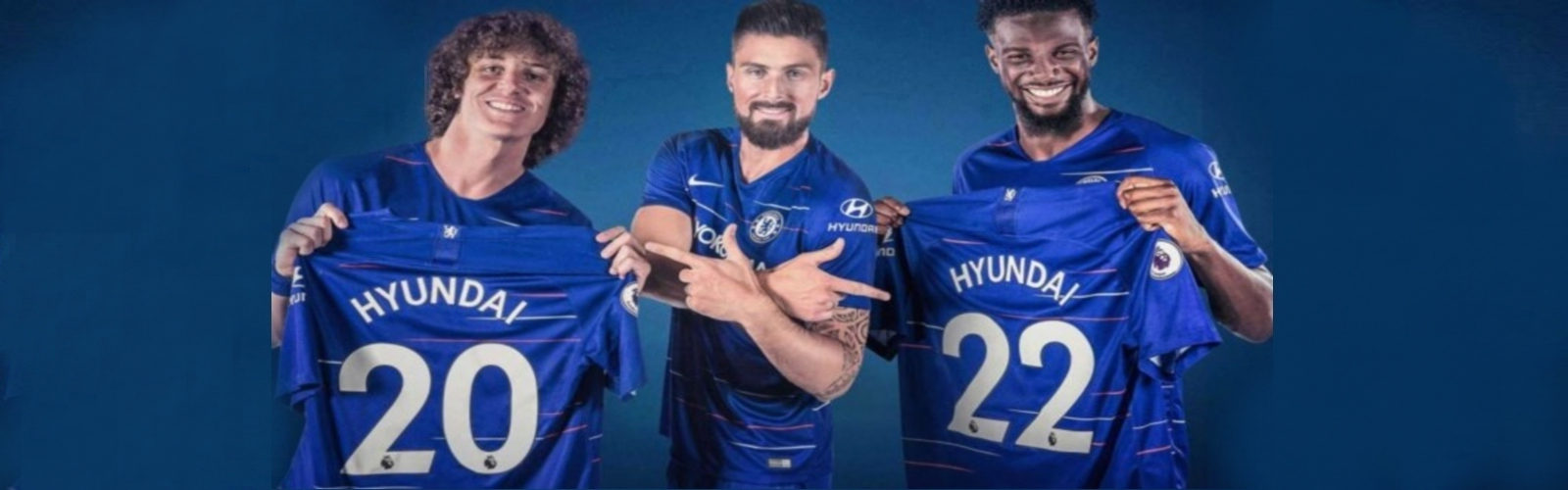 2018-19 Chelsea home, away, third jersey
