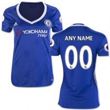 Women's Customized 2016/17 Chelsea Blue  Home Authentic Jersey