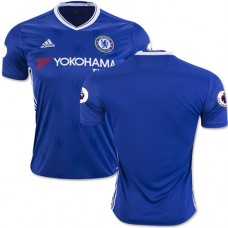 Adult Men's 16/17 Chelsea Blank Blue Home Replica Jersey - 2016/17 Premier League Soccer Shirt