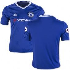 Kid's 16/17 Chelsea Blank Blue Home Replica Jersey - 2016/17 Premier League Soccer Shirt