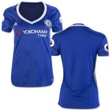Women's 16/17 Chelsea Blank Authentic Blue Home Jersey - 2016/17 Premier League Soccer Shirt