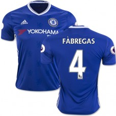 Adult Men's 16/17 Chelsea #4 Cesc Fabregas Authentic Blue Home Jersey - 2016/17 Premier League Soccer Shirt