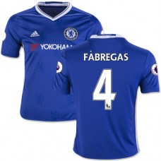 Kid's 16/17 Chelsea #4 Cesc Fabregas Blue Home Replica Jersey - 2016/17 Premier League Soccer Shirt