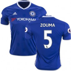 Adult Men's 16/17 Chelsea #5 Kurt Zouma Authentic Blue Home Jersey - 2016/17 Premier League Soccer Shirt