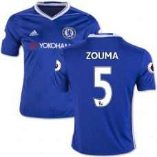 Kid's 16/17 Chelsea #5 Kurt Zouma Authentic Blue Home Jersey - 2016/17 Premier League Soccer Shirt