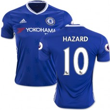 Adult Men's 16/17 Chelsea #10 Eden Hazard Authentic Blue Home Jersey - 2016/17 Premier League Soccer Shirt
