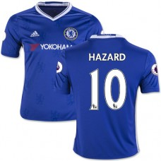 Kid's 16/17 Chelsea #10 Eden Hazard Authentic Blue Home Jersey - 2016/17 Premier League Soccer Shirt
