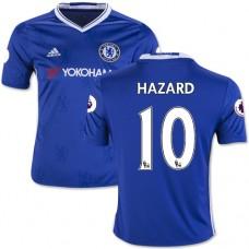Kid's 16/17 Chelsea #10 Eden Hazard Authentic Blue Home Jersey - 2016/17 Premier League Soccer Shirt