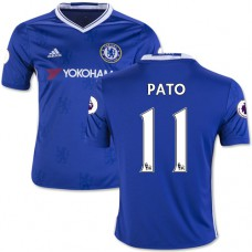 Kid's 16/17 Chelsea #11 Alexandre Pato Authentic Blue Home Jersey - 2016/17 Premier League Soccer Shirt