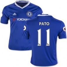 Kid's 16/17 Chelsea #11 Alexandre Pato Authentic Blue Home Jersey - 2016/17 Premier League Soccer Shirt