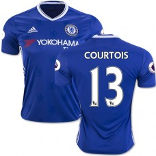 Adult Men's 16/17 Chelsea #13 Thibaut Courtois Authentic Blue Home Jersey - 2016/17 Premier League Soccer Shirt