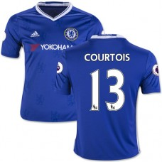 Kid's 16/17 Chelsea #13 Thibaut Courtois Authentic Blue Home Jersey - 2016/17 Premier League Soccer Shirt