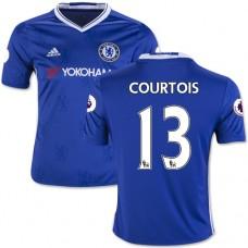 Kid's 16/17 Chelsea #13 Thibaut Courtois Authentic Blue Home Jersey - 2016/17 Premier League Soccer Shirt